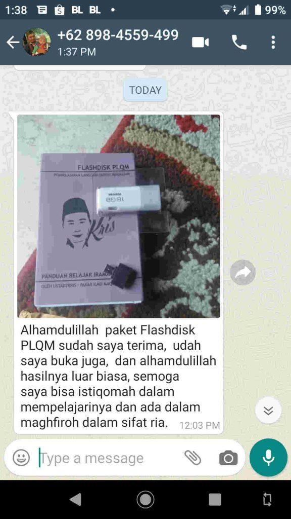 testimoni 2 flashdisk PLQM